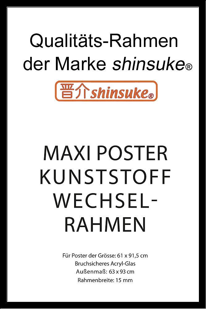 Poster Wechselrahmen Schwarz Für Maxi Poster Grösse 61x915 Cm 3d