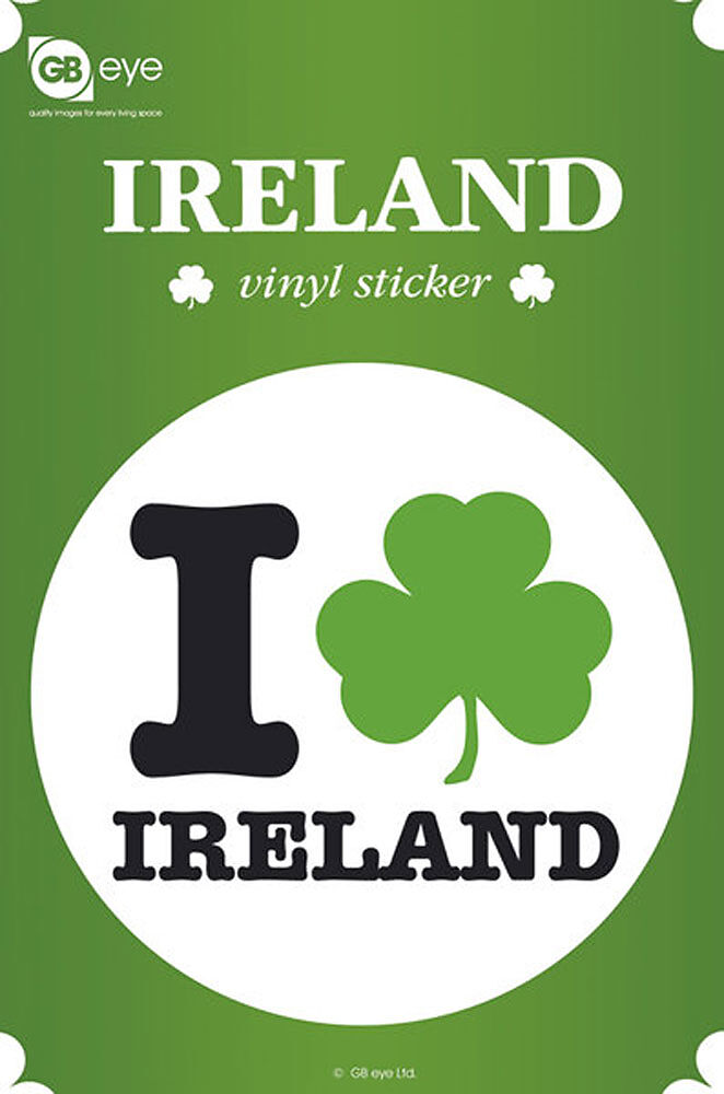 Ireland Sticker Aufkleber Größe Ø9 Cm I Love