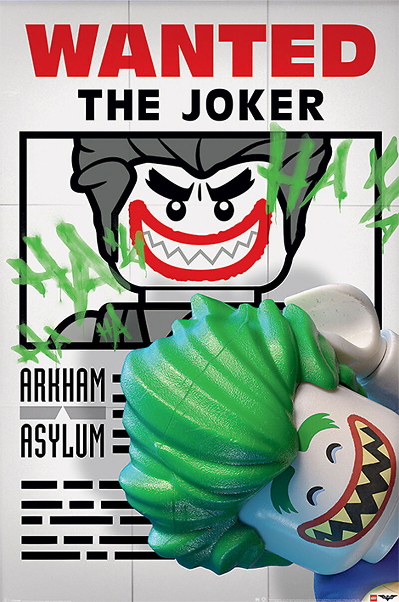 Lego Batman Wanted The Joker Poster Maxi Posters Online Kaufen