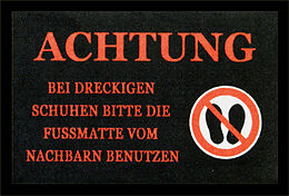 de6f9c3c3b8b2a Achtung! Dreckige Schuhe Fussmatte - Fussmatten online kaufen