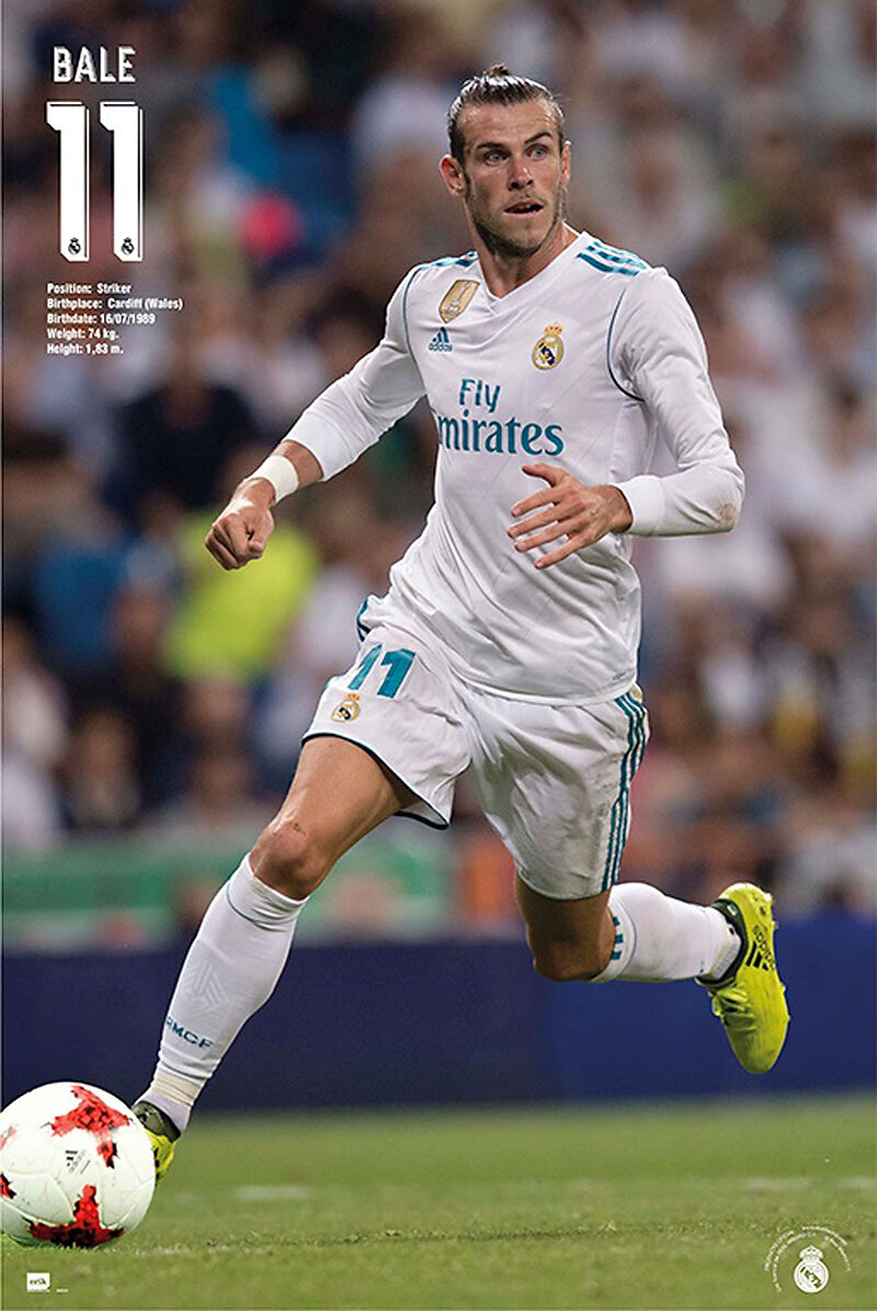 Fussball Real Madrid Bale Action 17 18 Poster