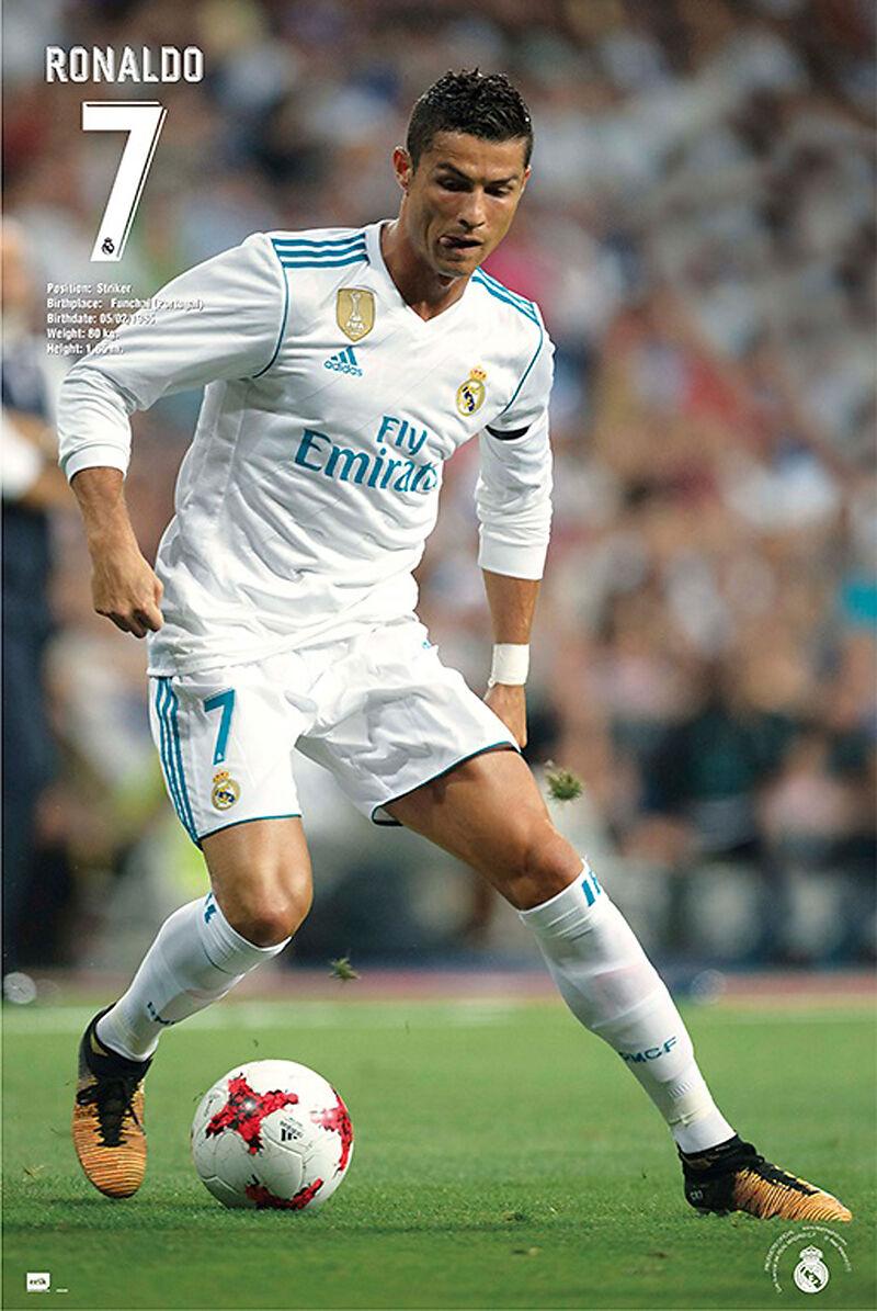 Fussball Real Madrid Ronaldo Facts 17 18 Poster