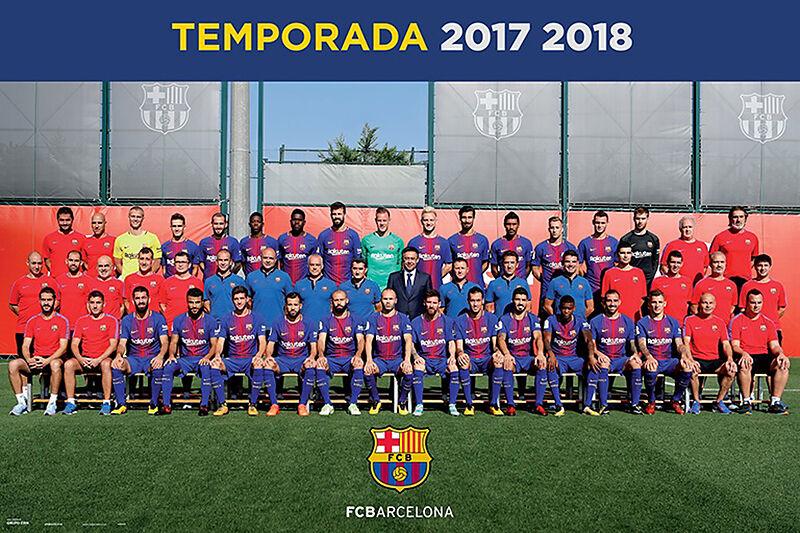 Fussball Fc Barcelona Mannschaft 17 18 Poster