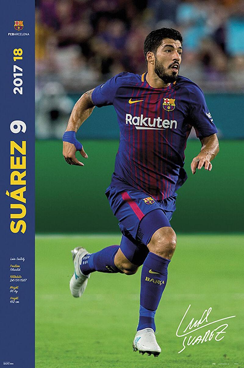 Fussball Fc Barcelona Suarez Facts 17 18 Poster
