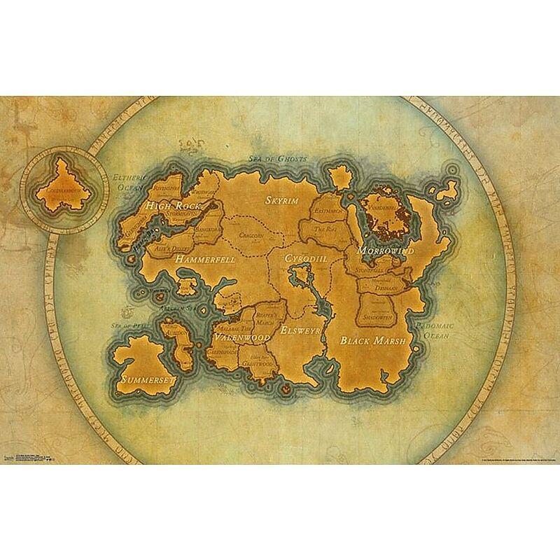 The Elder Scrolls Online Map Poster - Maxi-Posters - online kaufen ...