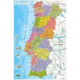 Mapa De Portugal Karte Von Portugal Poster Maxi Posters