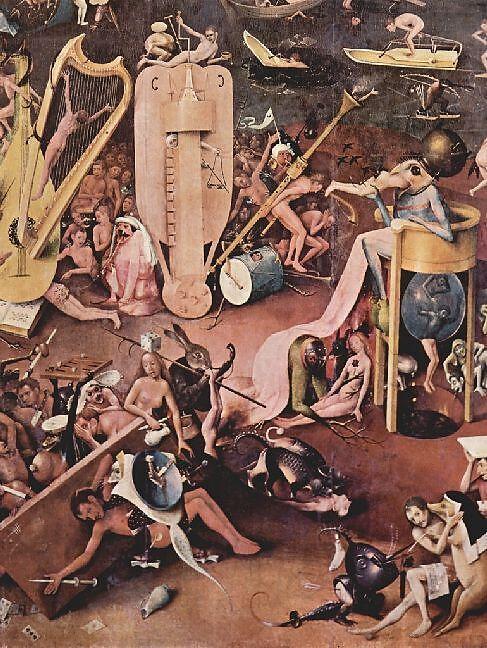 Hieronymus Bosch Der Garten Der Lüste Rechter Flügel Die Hölle