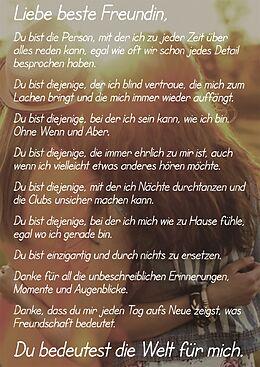 Liebe beste Freundin Postkarte - acheter en ligne   Ex Libris