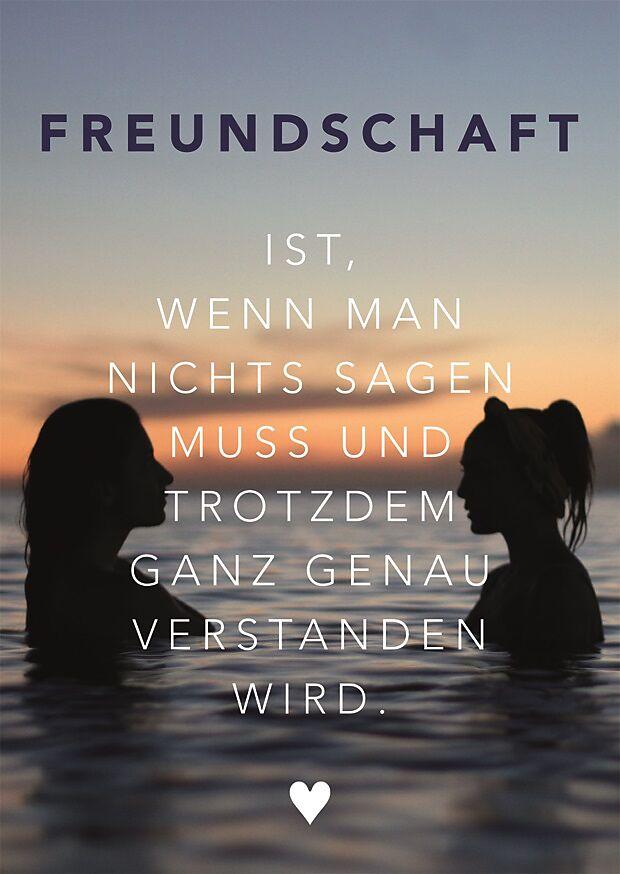 Freundschaft Postkarte - Glückwunschkarten online kaufen