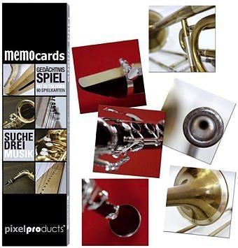 memocards Gedächtnisspiel Suche Drei Musik Spiel