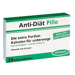 Anti Diat Pillen 24 Scherztabletten Fun Scherzartikel Online
