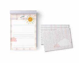 Kartonierter Einband Briefpapier-Set Sonne mit Umschlägen von