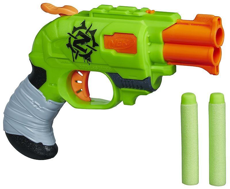 Hasbro nerf double strike action in outdoor