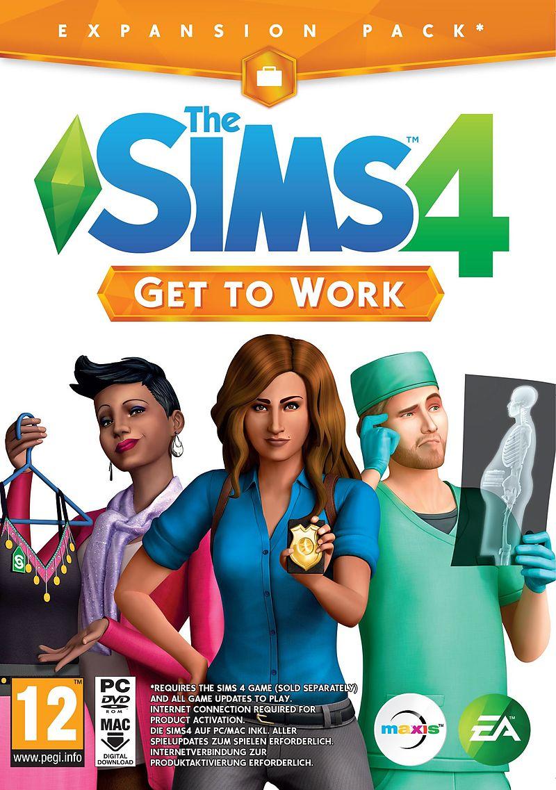 the sims 4 get to work add on dvd pc mac d f i f r. Black Bedroom Furniture Sets. Home Design Ideas