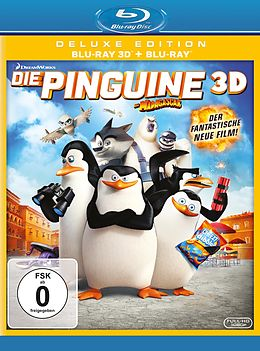 Various Artists BLU-RAY 3D/2D Die Pinguine aus Madagascar Deluxe Edition