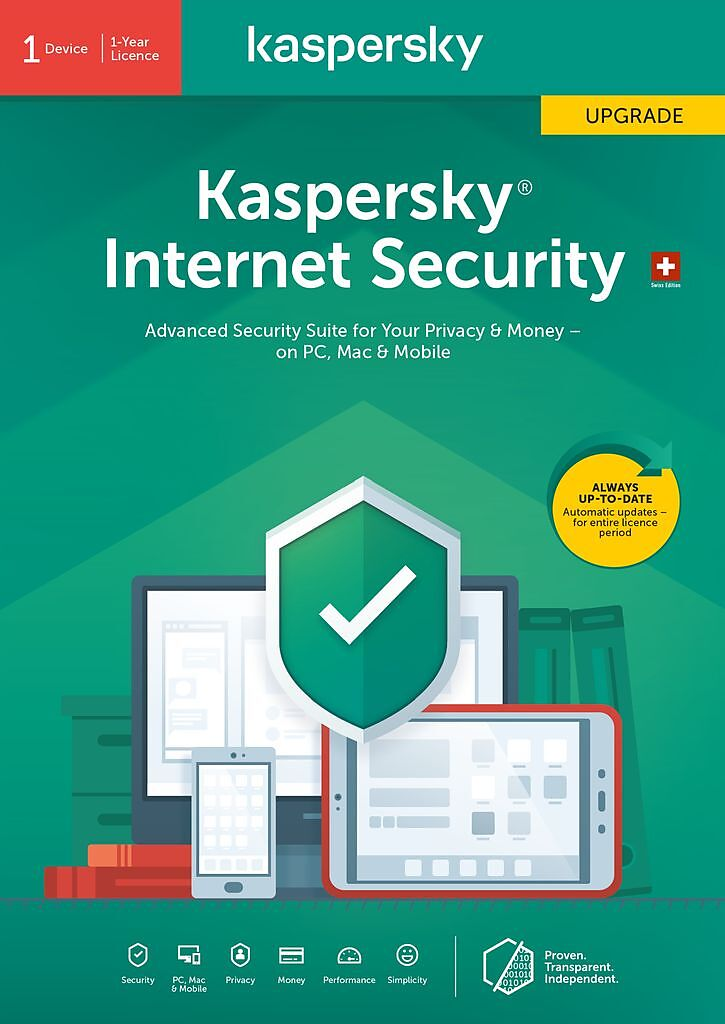 Kaspersky Internet Security (1 PC) Upgrade [PC/Mac/Android] (D/F/I)
