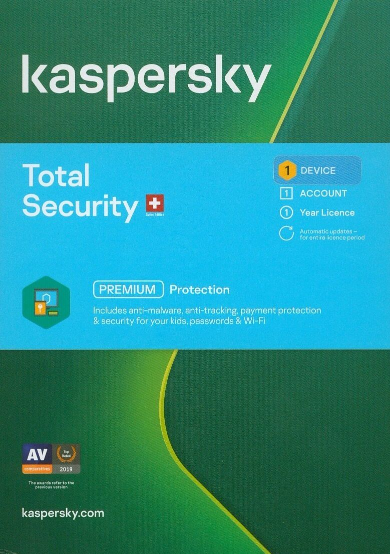 Kaspersky Total Security (1 PC) [PC/Mac/Android] (D/F/I)