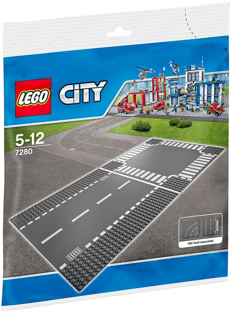 lego 7280 city gerade strasse kreuzung lego city bausteine mehr. Black Bedroom Furniture Sets. Home Design Ideas