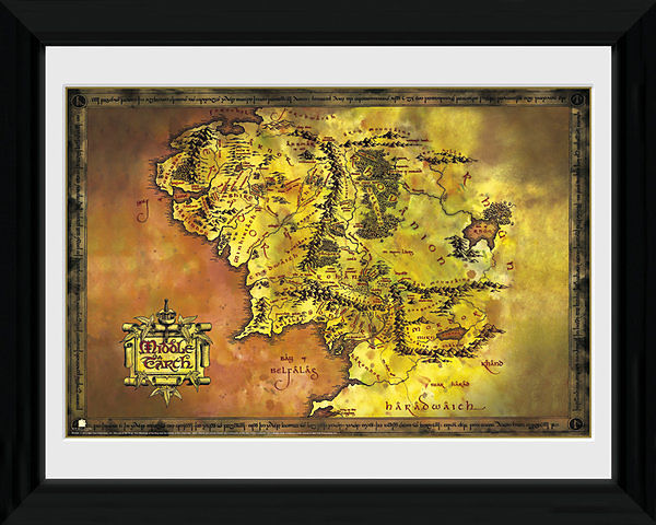 Lord of the Rings Middle Earth Map Collector Print - Fan-Bilder ...