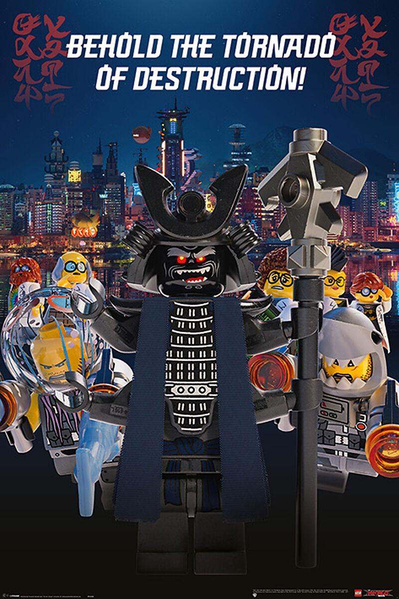 Lego Ninjago Movie Garmadon Destruction Poster Maxi Posters