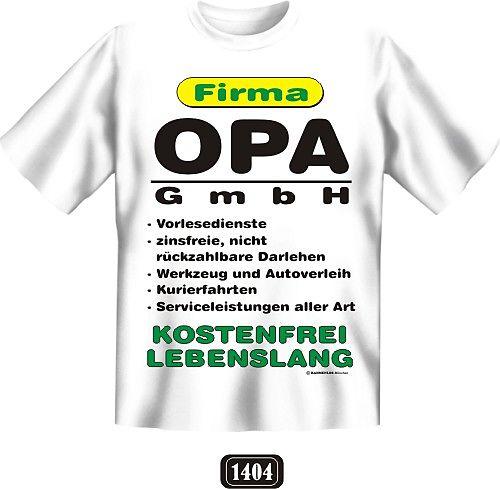 Opa Gmbh T Shirt Aus 100 Baumwolle Mit Hochwertigem Druckmotiv