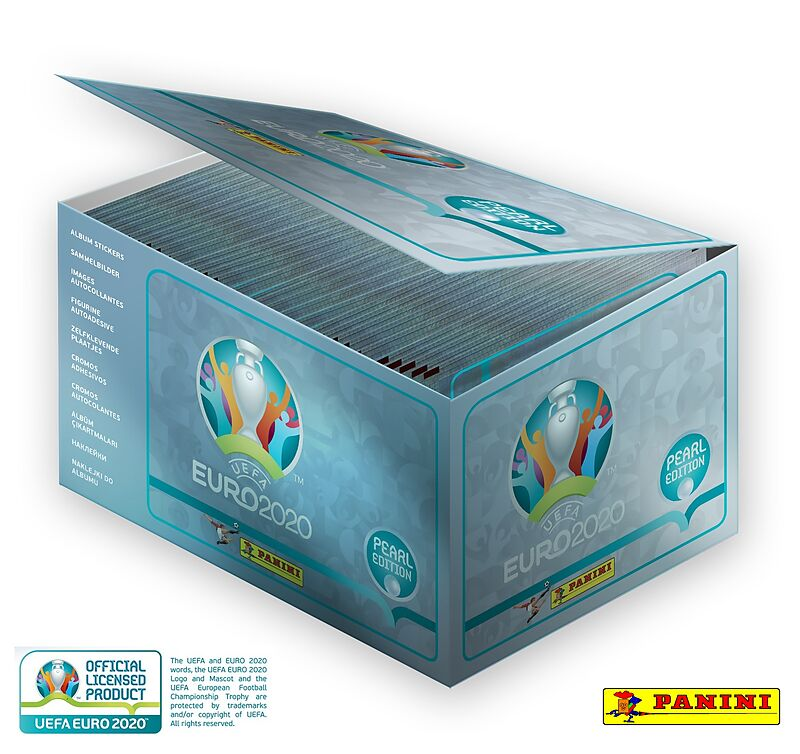 UEFA EURO 2020(TM) PEARL EDITION OFFICIAL STICKER COLLECTION 100-BOX
