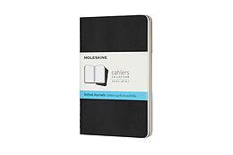 Blankobuch geb Moleskine Cahier P/A6, 3x Set, Dotted, Carton Cover, Black von