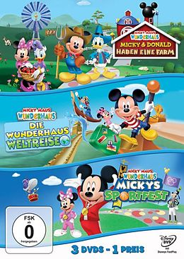 Micky Maus Wunderhaus - Mickys Sportfest & Die Wunderhaus-Weltreise & Micky und Donald haben eine Farm DVD