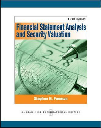 Financial Statement Analysis And Security Valuation   Stephen H. Penman    Englische Bücher Kaufen | Exlibris.ch