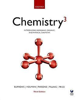Couverture cartonnée Chemistry³ de Andrew Burrows, John Holman, Andrew Parsons