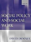 Kartonierter Einband Social Policy and Social Work von David Denney