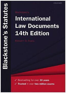 Kartonierter Einband Blackstone's International Law Documents von
