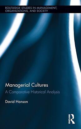 Fester Einband Managerial Cultures von David Hanson