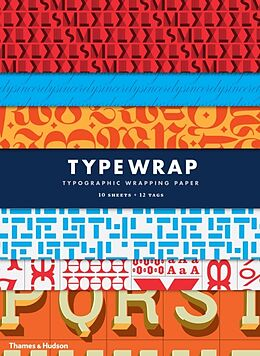 Kartonierter Einband Type Wrap: Typographic Gift Wrapping Paper Book von Rick Landers