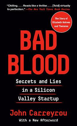Couverture cartonnée Bad Blood de John Carreyrou