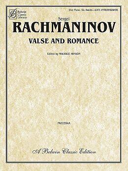 Sergei Rachmaninoff Notenblätter Valse and Romance for piano 6 hands