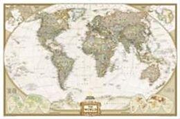 gerollte (Land)Karte World Executive, Enlarged &, Tubed von National Geographic Maps