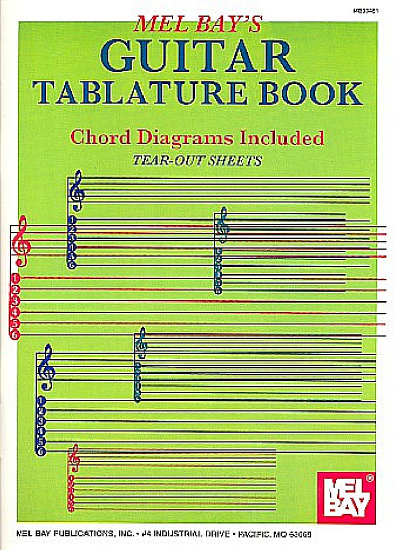 GUITAR TABLATURE BOOK CHORD
