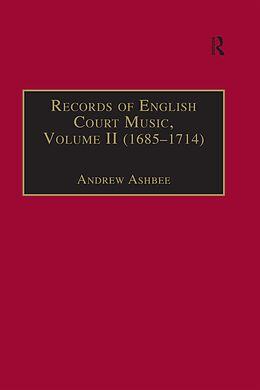 E-Book (epub) Records of English Court Music von