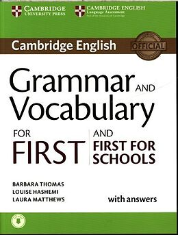 Broschiert Grammar and Vocabulary for First and First for Schools Book With von Barbara ; Hashemi, Louise Thomas