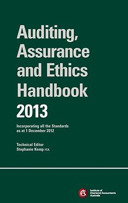 Kartonierter Einband Chartered Accountants Auditing & Assurance Handbook 2013 + Wiley E-Text von ICAA (Institute of Chartered Accountants Australia), Stephanie Kemp