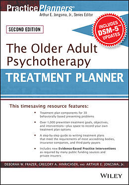 E-Book (pdf) The Older Adult Psychotherapy Treatment Planner, with DSM-5 Updates, 2nd Edition von Deborah W. Frazer, Gregory A. Hinrichsen, Arthur E. Jongsma