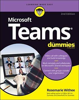 Kartonierter Einband Microsoft Teams For Dummies von Rosemarie Withee