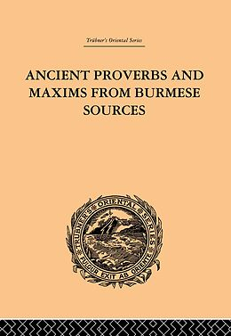 E-Book (pdf) Ancient Proverbs and Maxims from Burmese Sources von James Gray