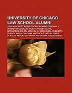 Kartonierter Einband University of Chicago Law School alumni von