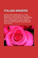 Kartonierter Einband Italian singers von