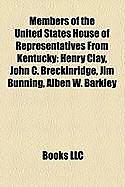 Kartonierter Einband Members of the United States House of Representatives from Kentucky von