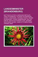 Kartonierter Einband Landesminister (Brandenburg) von