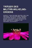 Kartonierter Einband Träger des Militär-Wilhelms-Ordens von