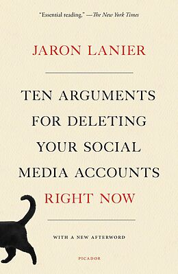 E-Book (epub) Ten Arguments for Deleting All Your Social Media Accounts Right Now von Jaron Lanier